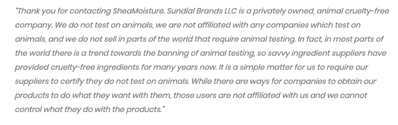 email from shea moisture to ethical elephant
