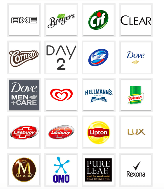 brands owned by unilever