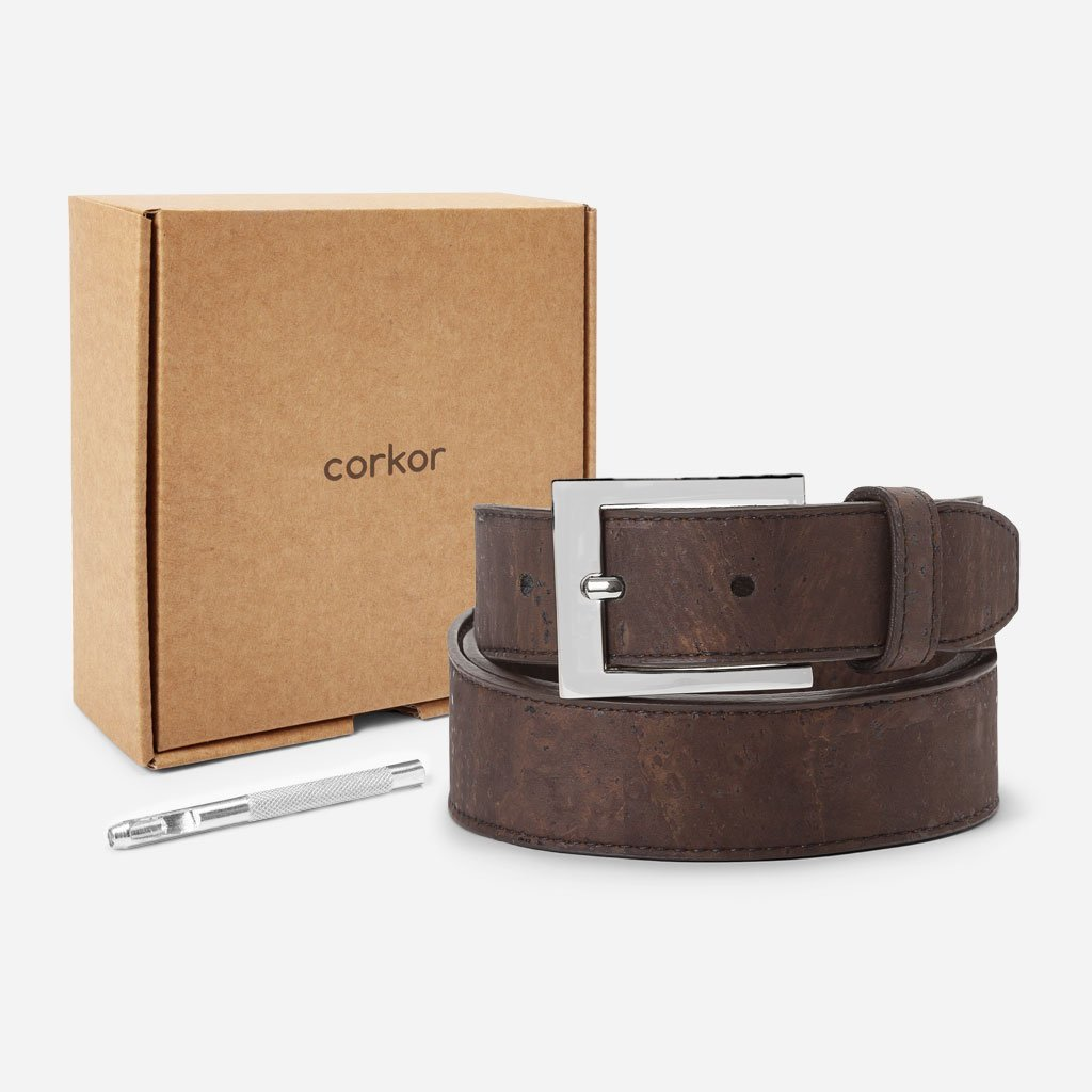 men's cork belt