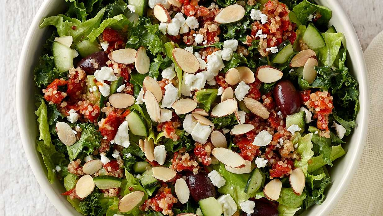 Modern Greek Salad With Quinoa