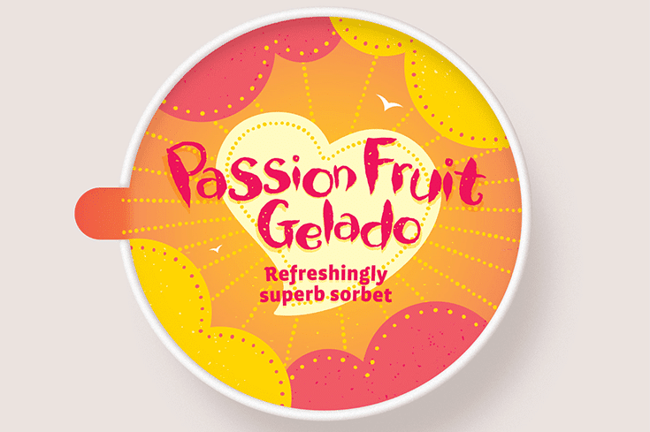 passion fruit gelato
