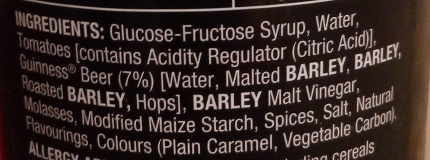 guiness ingredients