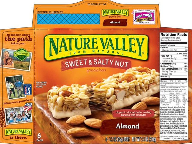 are nature valley granola bars vegan