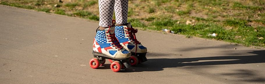 boots and roller skates