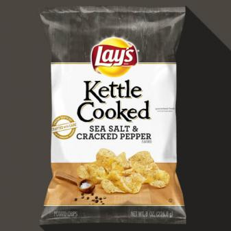 kettle cooked sea salt and pepper lays